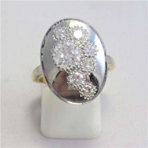 Old Cut Diamond Set Dress Ring
