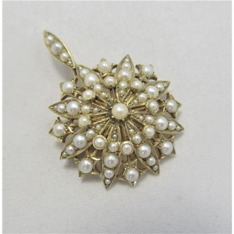 Antique Seed Pearl Pendant/Brooch