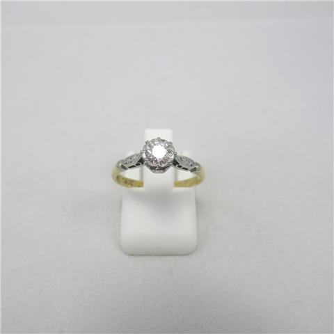 Diamond Set Solitaire Ring