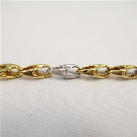 18 Carat Yellow And White gold Bracelet