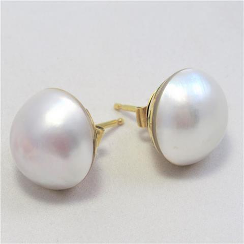 Large Mabe Pearl Earrings