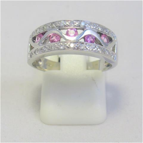 Pink Sapphire & Diamond Dress Ring