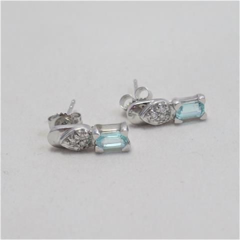 Paraiba Tourmaline Stud Earrings
