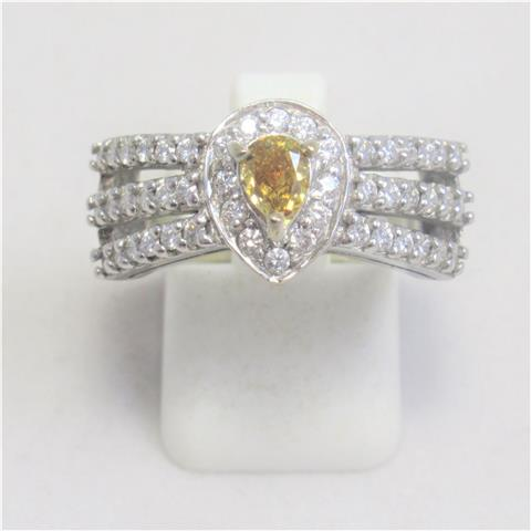Yellow Diamond Dress Ring