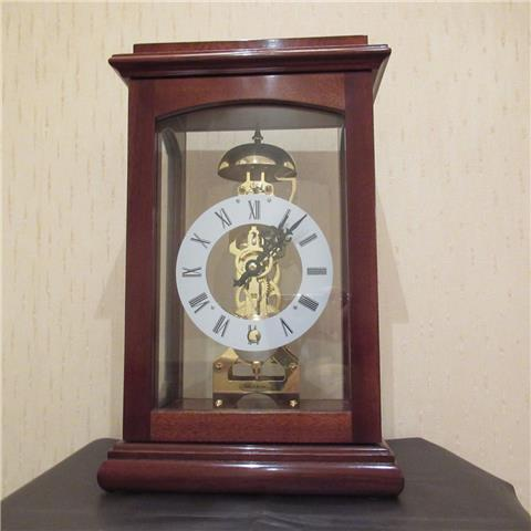 Hardwood 8 Day Mantel Clock of Far Eastern Manufacture