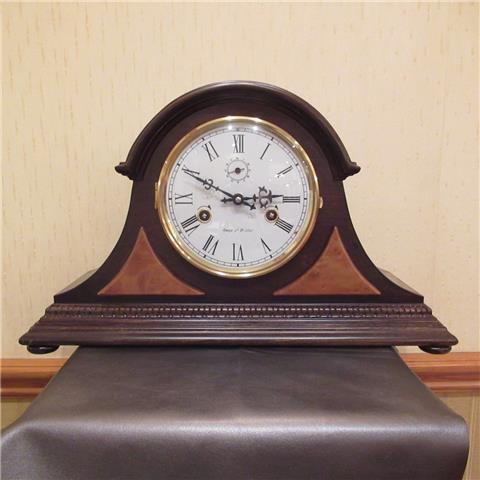 Hardwood 8 Day Napoleon's Hat Mantel Clock of Far Eastern Manufacture