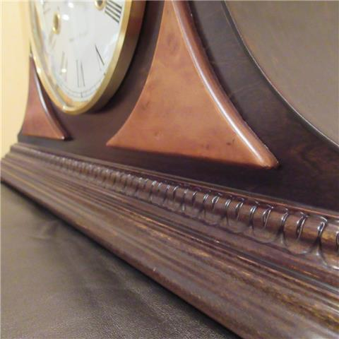 Hardwood 8 Day Napoleon's Hat Mantle Clock of Far Eastern Manufacture