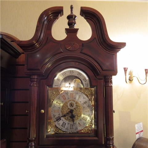 Reproduction Hardwood Westminster Striking Grandfather Clock of Far Eastern Manufacture