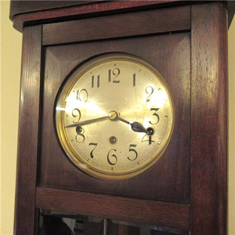 1920s 8 Day Mahogany Cased Westminster Striking Wall Clock