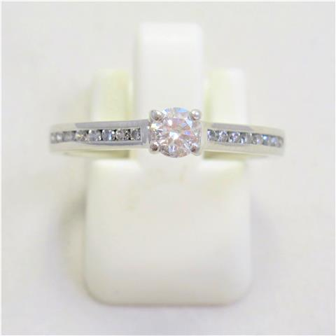 Diamond Solitaire With Diamond Shoulders Ring