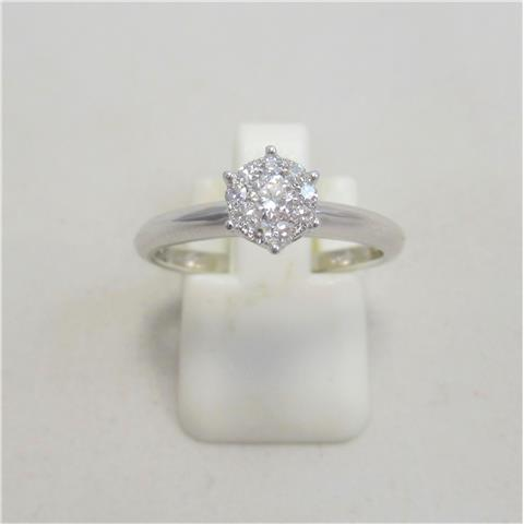 Diamond Set Cluster Ring