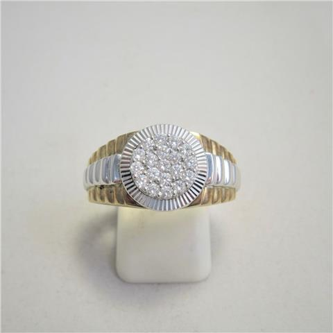 Gents Diamond Cluster Ring