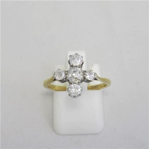 Diamond Five Stone Dress Ring