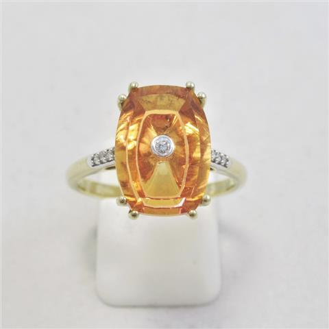 Colour Quartz & Diamond Ring