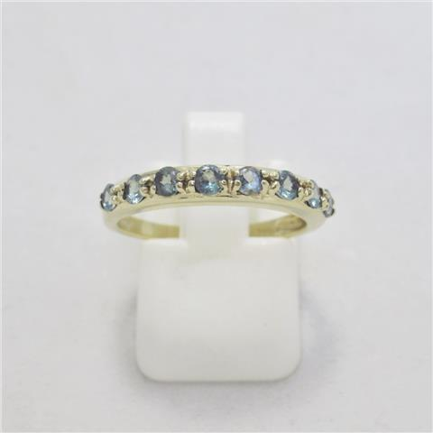 Alexandrite Half Eternity Ring