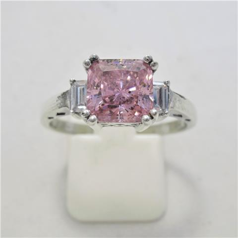 CZ Three Stone Ring