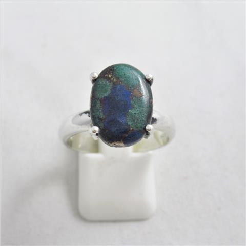 Blue Azurite & Green Malachite Ring