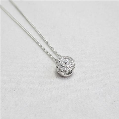Diamond Cluster Pendant & Chain