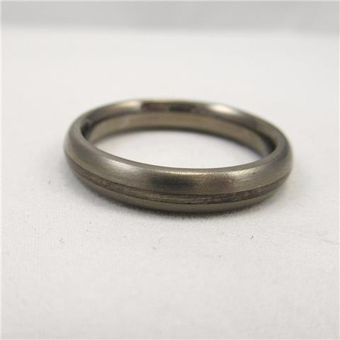 Titanium and Silver Wedding Ring